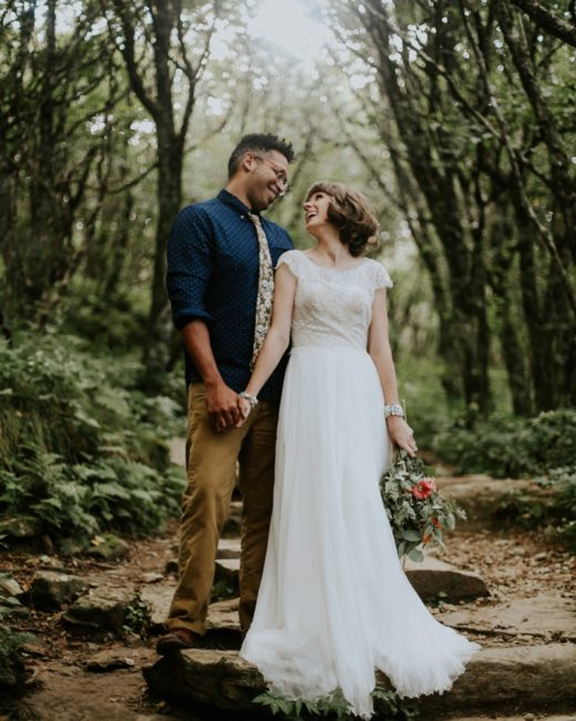 Asheville Wedding Photos , Craggy Garden Pinnacle Trail , Christian + Jeremy