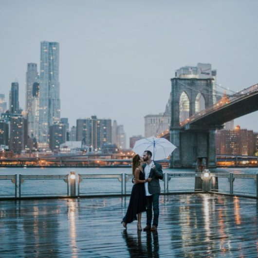 Brooklyn Bridge Park Engagement Pictures Krystyna + Chris