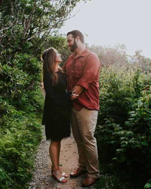 Craggy Gardens Engagement Pictures, Asheville Engagement Photos, Chelsea + Will