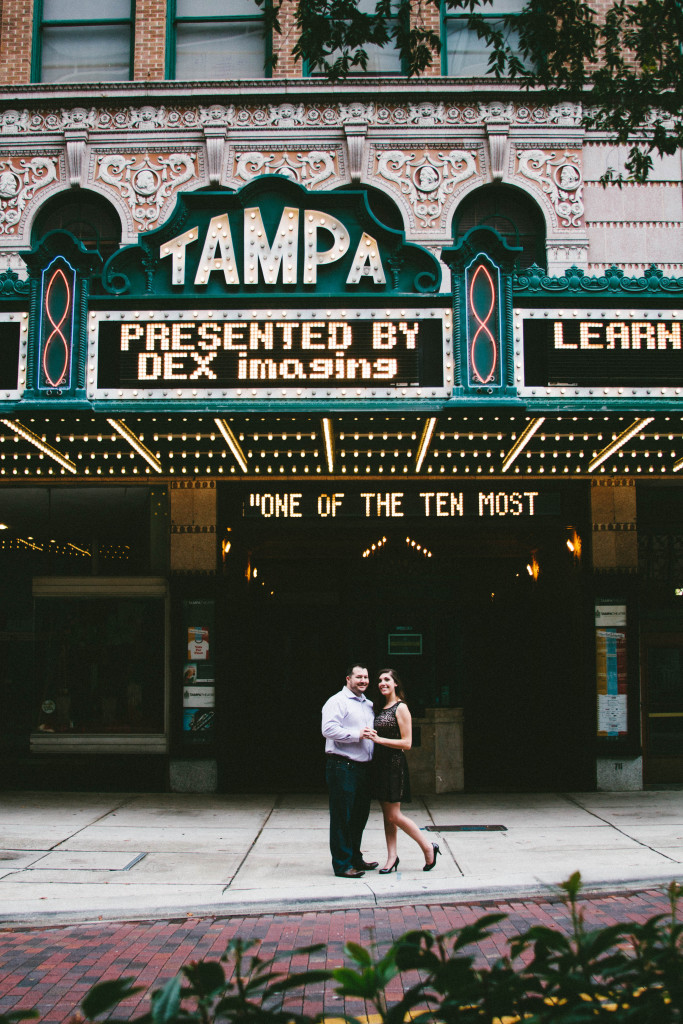 downtown tampa engagement, downtown tampa engagement, tampa theater engagement photos, tampa wedding photographer, florida wedding photographer
