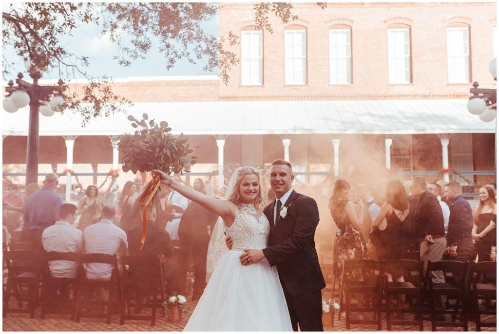 CL Space (Ybor City), CL Space (Ybor City)  wedding, CL Space (Ybor City) wedding photo, CL Space wedding photos, smoke bomb wedding exit,