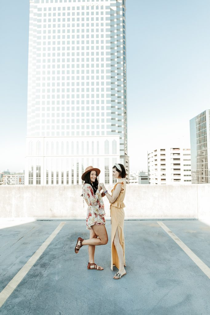downtown tampa rooftop proposal, where can i propose in tampa, ashley Izquierdo, tampa proposal ideas, tampa proposal photos, tampa engagement photos, tampa wedding photgrpahers, lgbtq, love wins, tampa rooftops coulples photos